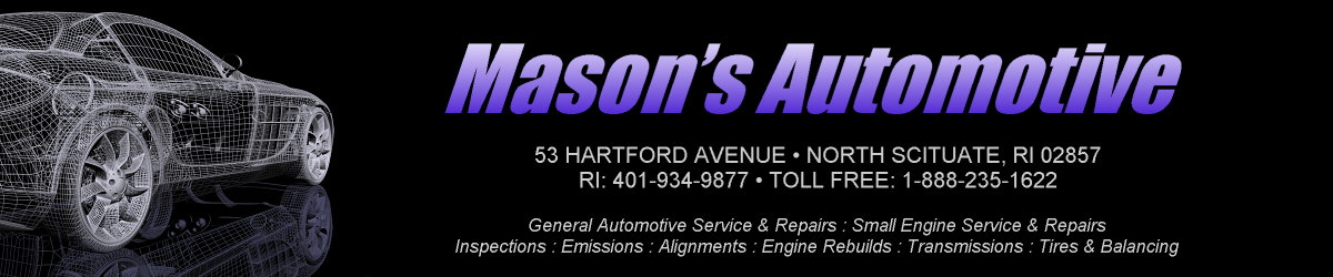 Mason's Automotive and Racing Specialists - 53 Hartford Avenue, North Scituate, RI 02857